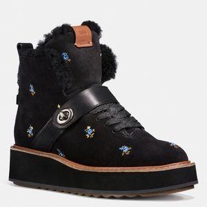 Coach Urban Hiker Prairie Embroidered Suede Boot